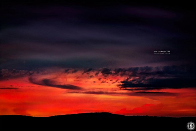 sunset landscape darkness photography