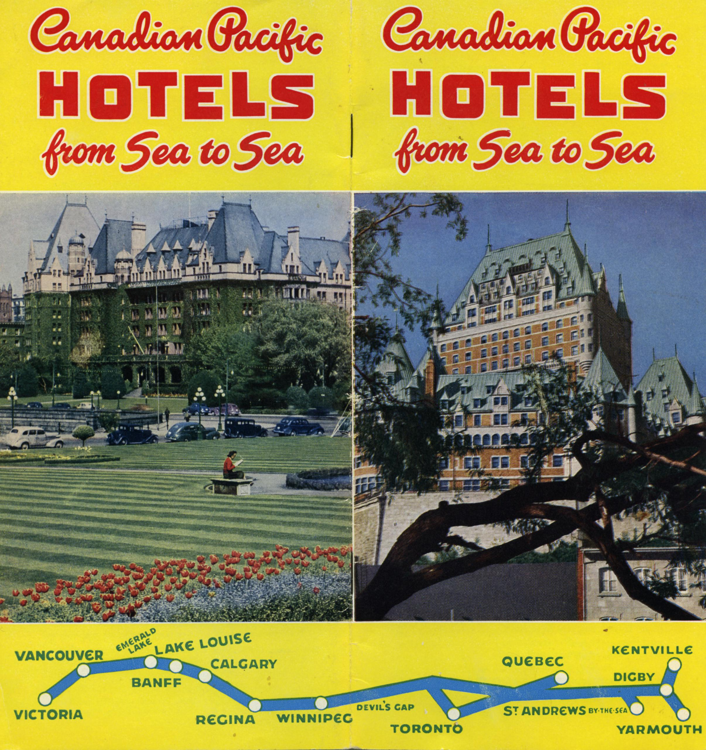 Canadian Pacific Hotels brochure - 1950