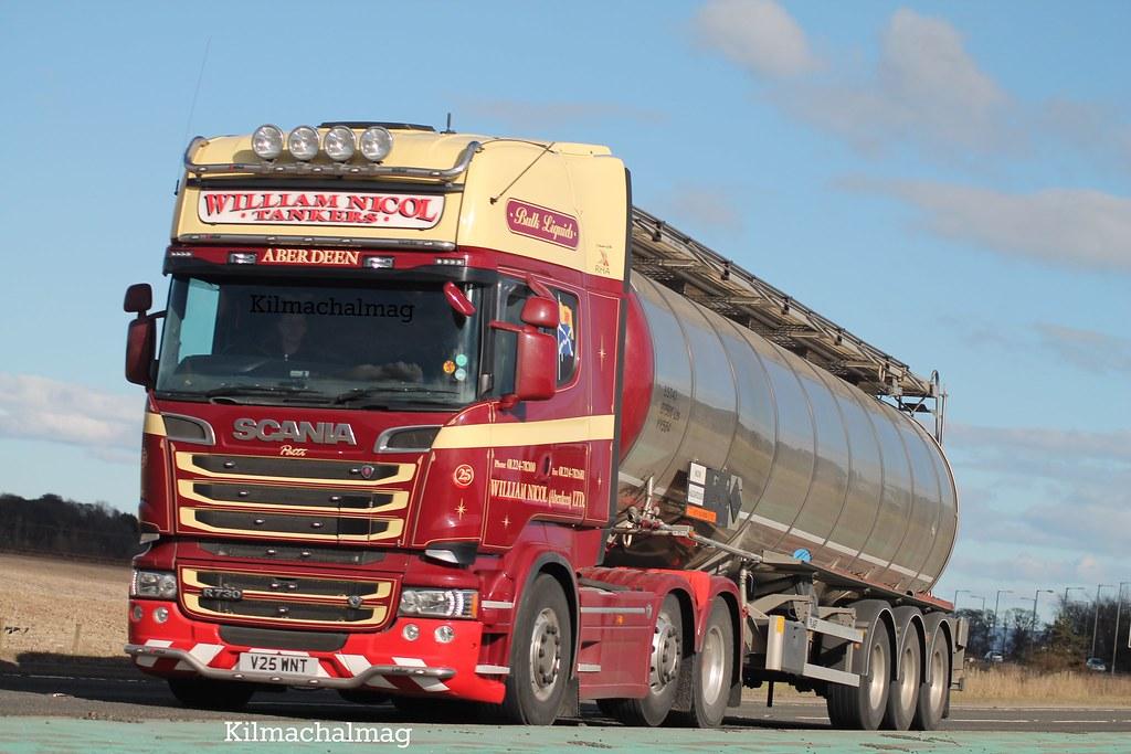 William Nicol Tankers Aberdeen Ltd Scania V8 R730 V25 Wnt