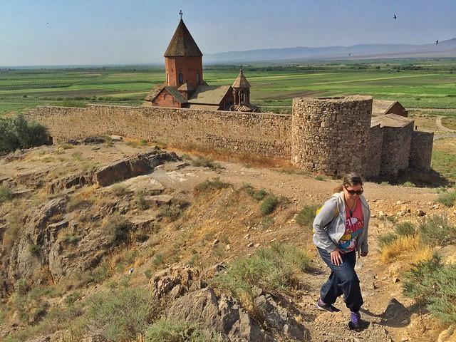 Rebeca en Khor Virap (Armenia)