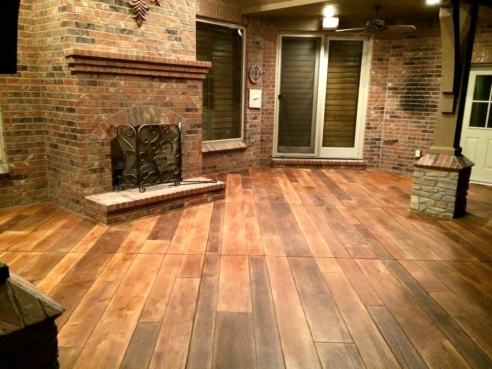 Rustic Concrete Wood Ponca City Ok Decorative Concrete