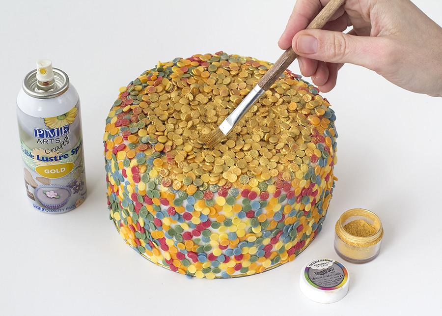Cómo hacer tarta lentejuelas