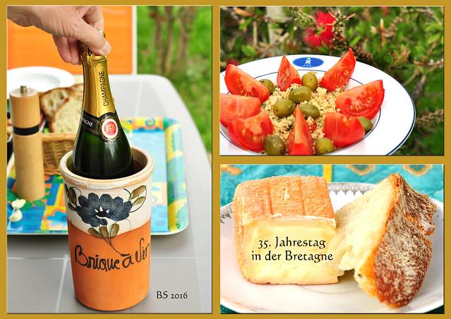 Champagner Taboule Käse Bretagne 2016 Fotos: Brigitte Stolle