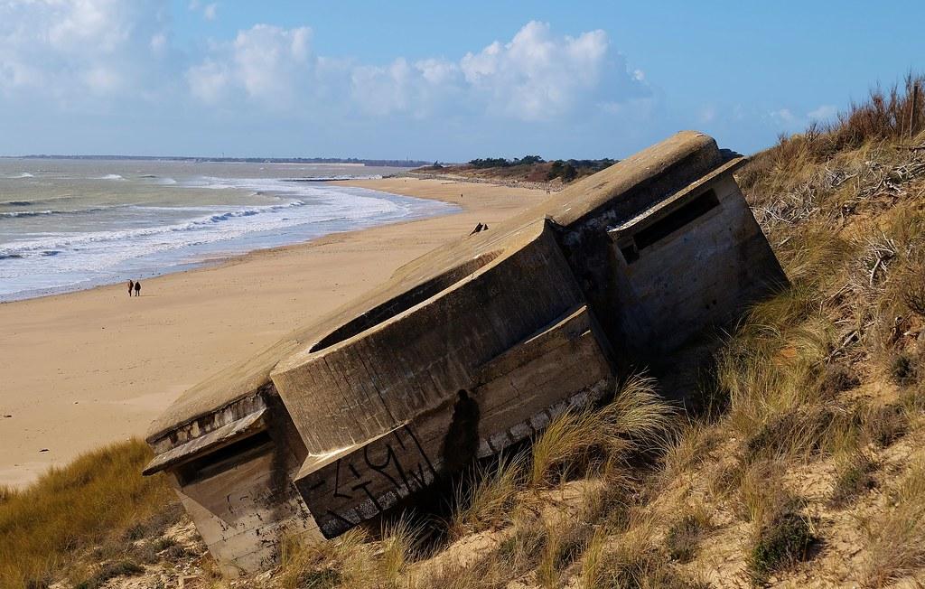 Ile de Ré, Le Bois plage, vestiges seconde guerre mondiale u2026 Flickr # Ile De Ré Bois Plage