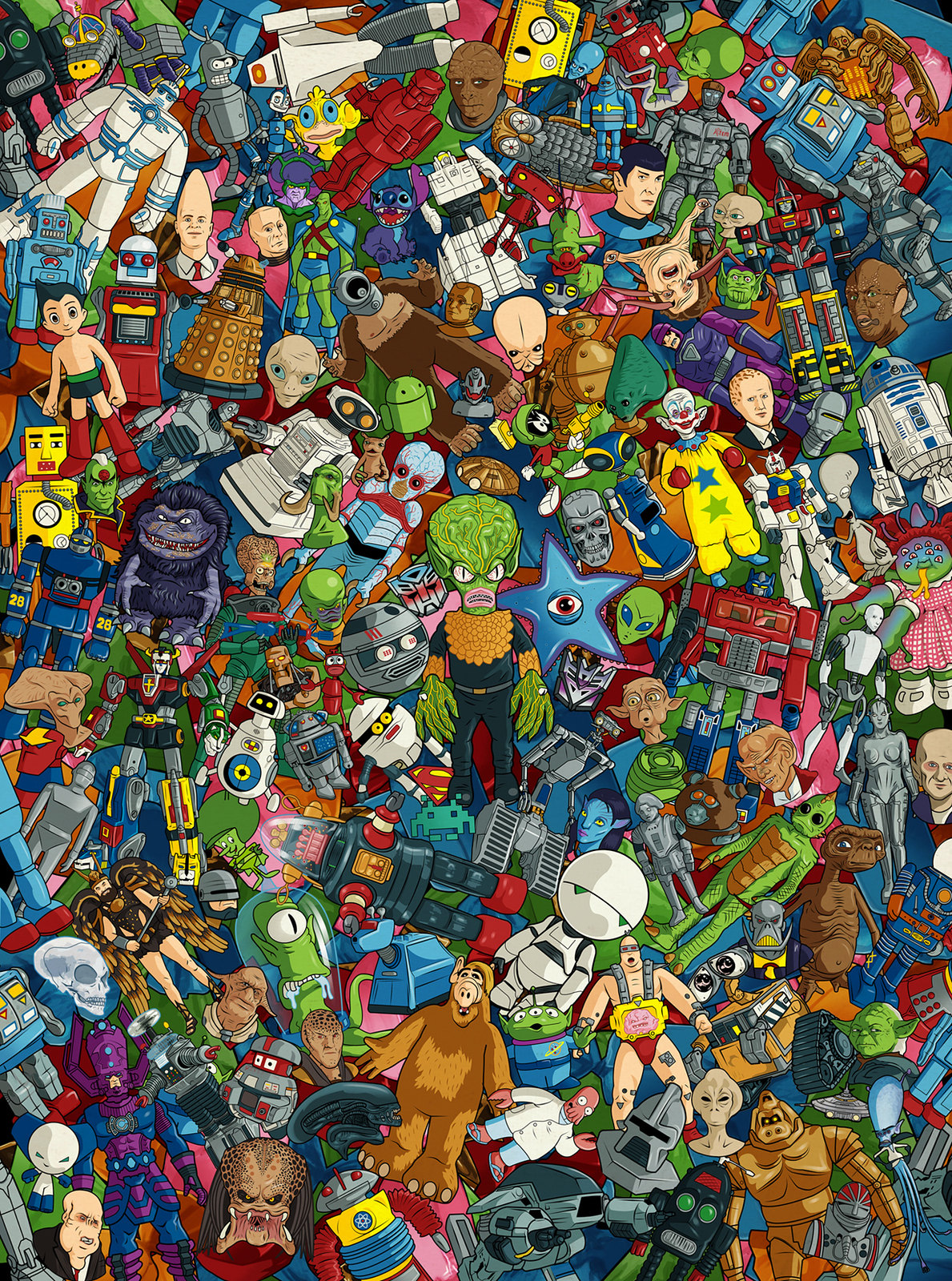Robots & Aliens by Bill McConkey