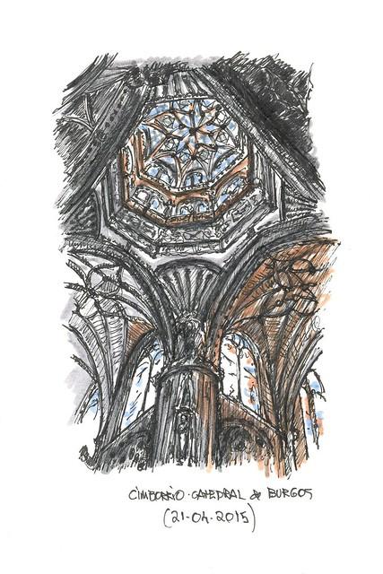 Burgos. Cimborrio de la catedral