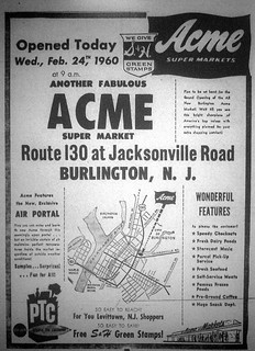 Acme Mkt Burlington NJ Opening Feb 1960