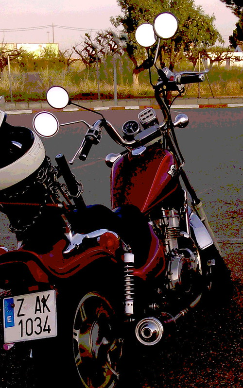 Póster de mi vieja moto