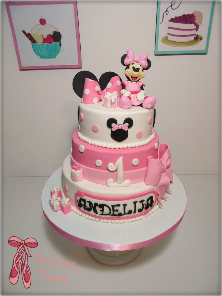 minnie mouse cake mini maus torta by balerina jagodina flickr. Black Bedroom Furniture Sets. Home Design Ideas