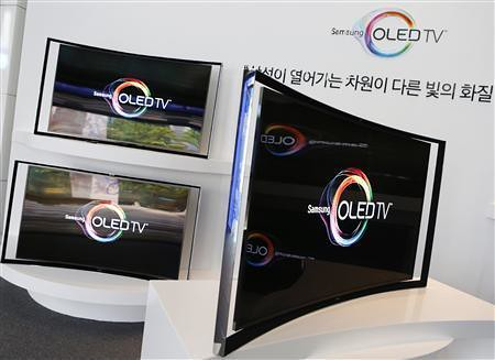 OLED TV Samsung ultra thin surfaces only $ 13,000 first curved, super-thin OLED television sets are displayed at the main Office of the company in Seoul