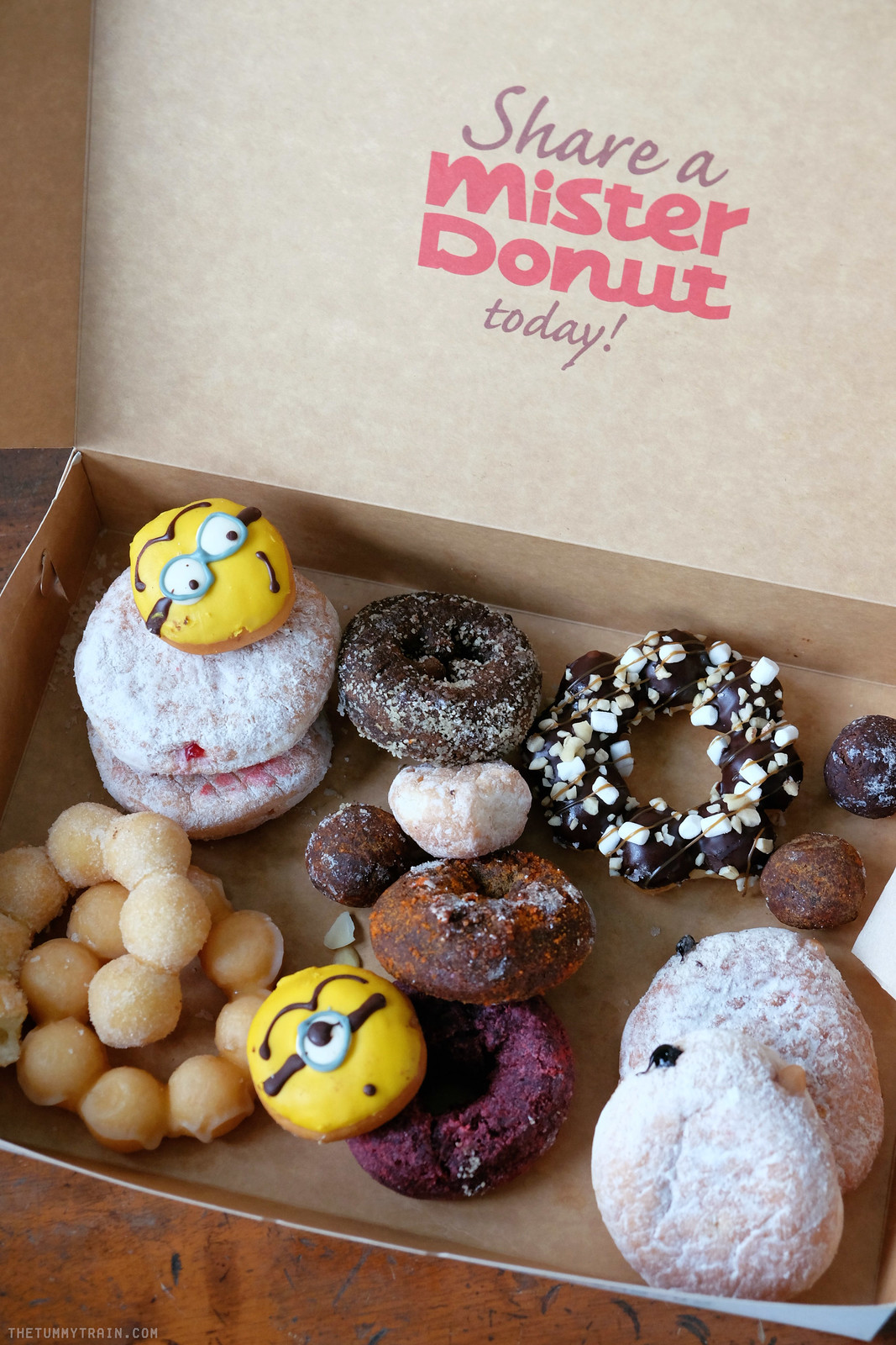 28056786493 87aecf7bda h - Minions invade Mister Donut + An Overload of Donuts Giveaway!