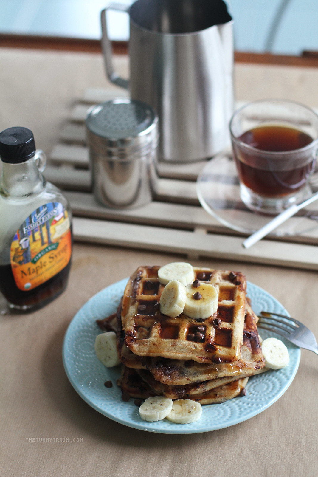 16727832820 424ad93152 h - Peanut Butter Banana Waffles coz it's Waffle Day!