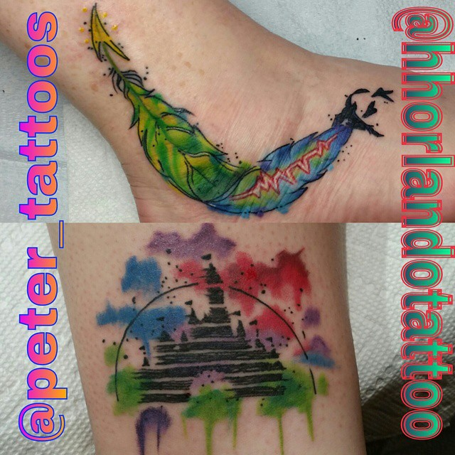 Colorful Feather Tattoo Done In March 2013: I Dont Normally Do Feather Tattoos Breaking Off With Bird