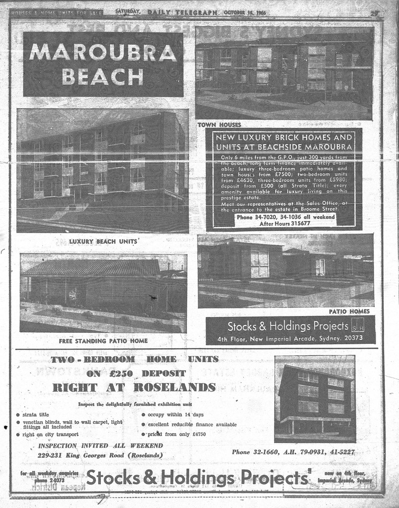 Stocks and Holdings Ad October 15 1966 daily telegraph 29