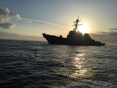 WESTERN PACIFIC OCEAN - USS Russell (DDG 59) arrived in the U.S. 7th Fleet area of responsibility (AOR), after departing from their homeport of San Diego, Calif.