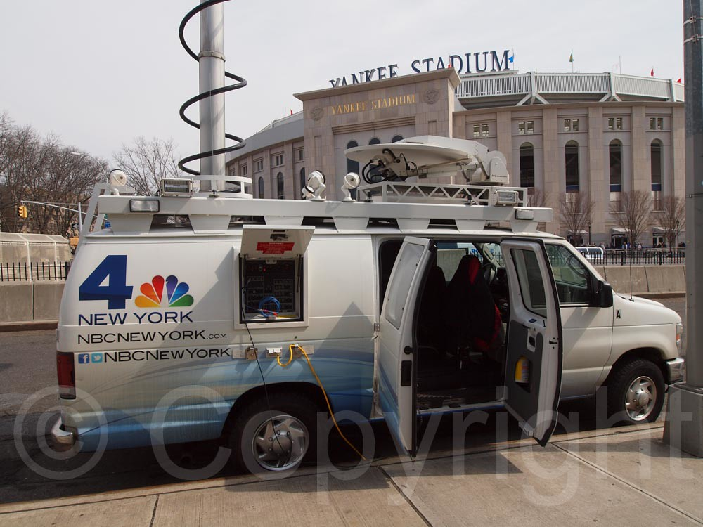Nbc News Channel 4 Communication Van Yankees Opening Day