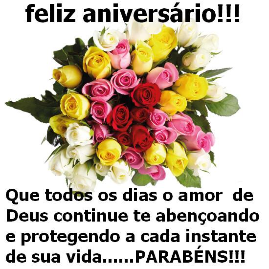 Mensagens Com Flores De Feliz Aniversário