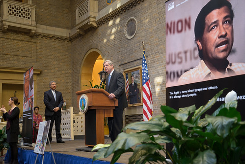 Agriculture Secretary Tom Vilsack speaking at A Celebration of the Life and Legacy Of Cesar Chavez at the U.S. Department of Agriculture in Washington, DC