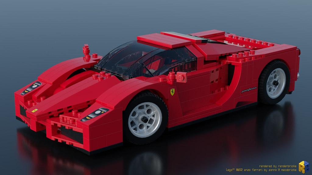 lego racers 8652 enzo ferrari 1 17 renderbricks flickr. Black Bedroom Furniture Sets. Home Design Ideas