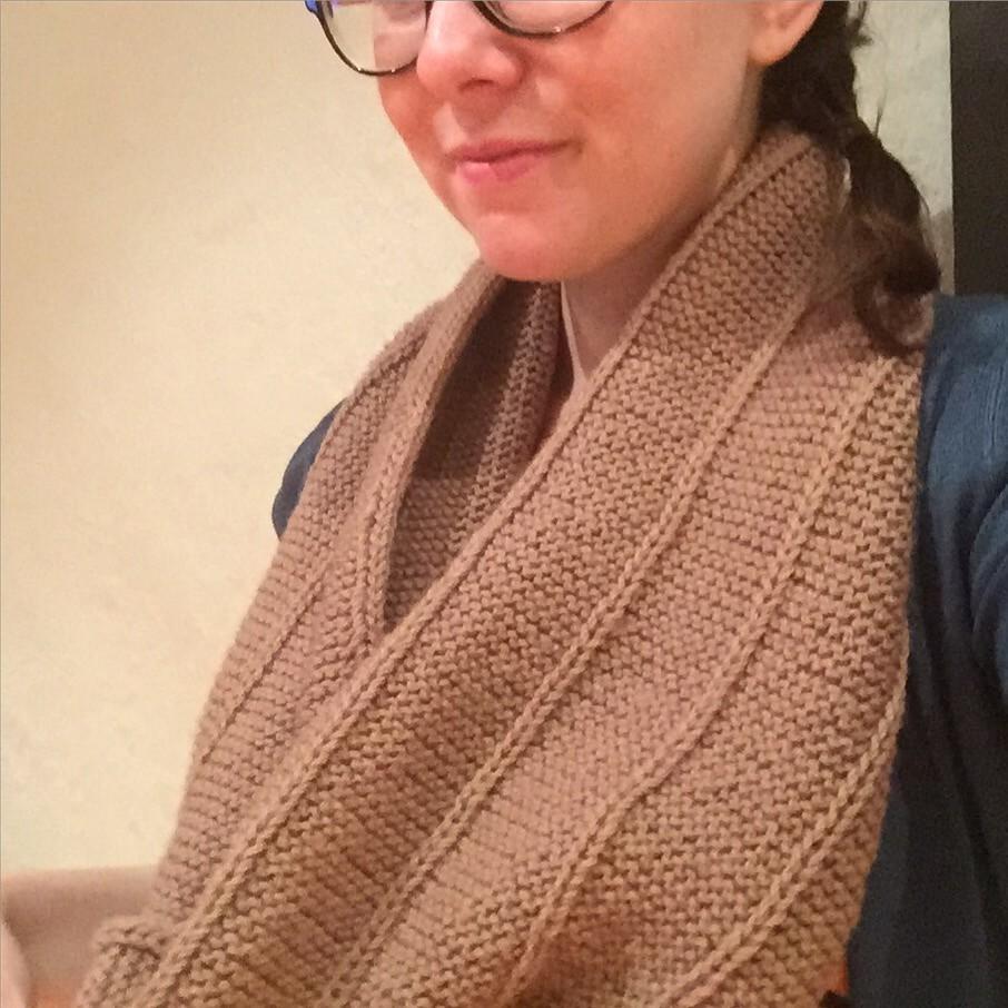 m.1. solo knit in bendigo woollen mills colonial 8ply in colourway mocha