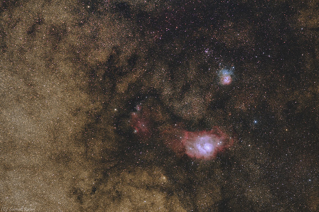 VCSE - Messier 8 és Messier 20 widefield - Schmall Rafael