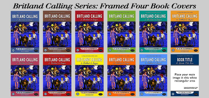 Britland Calling Series framed Book Cover Choices