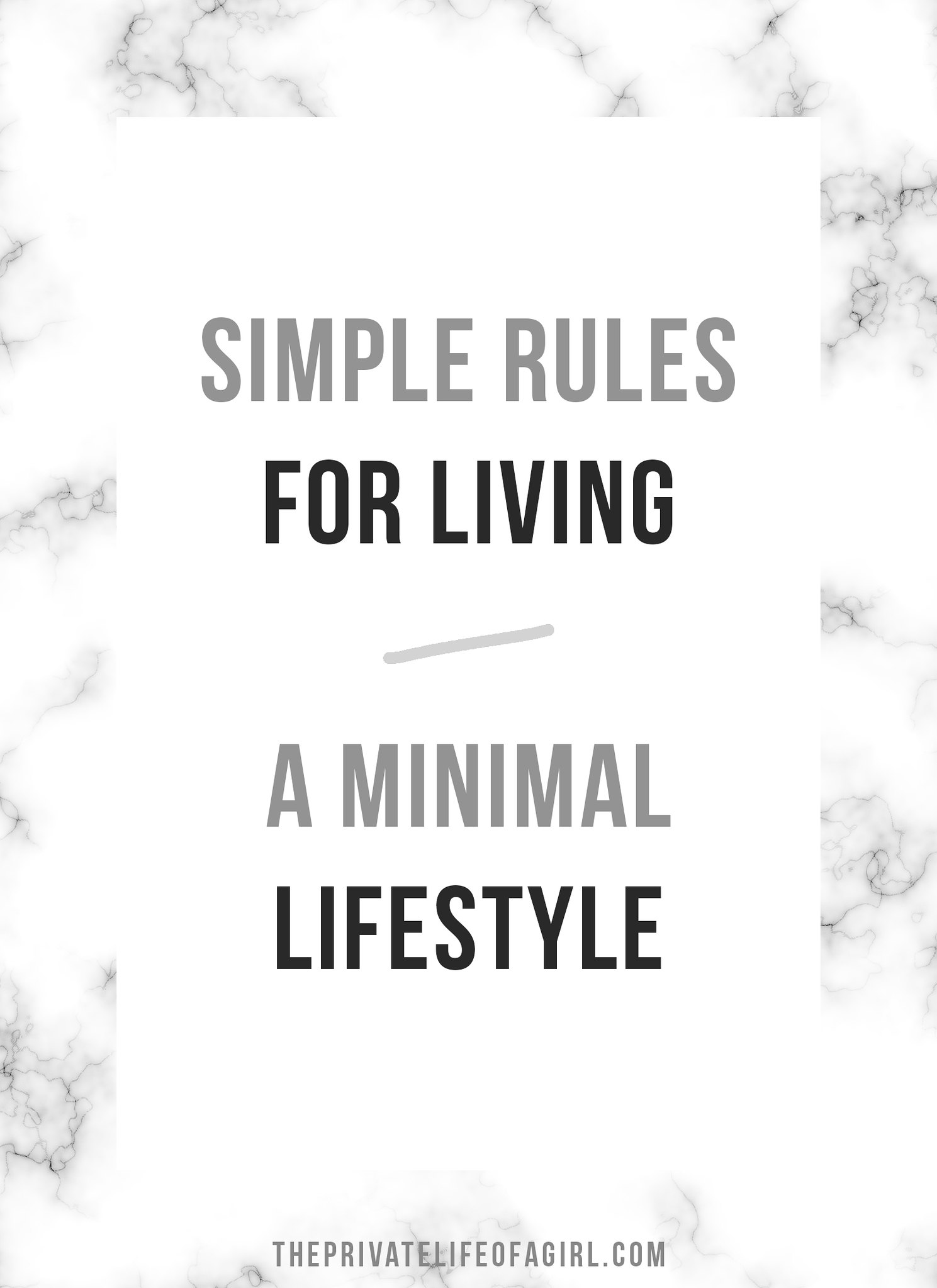 Simple Rules For Simpler Living