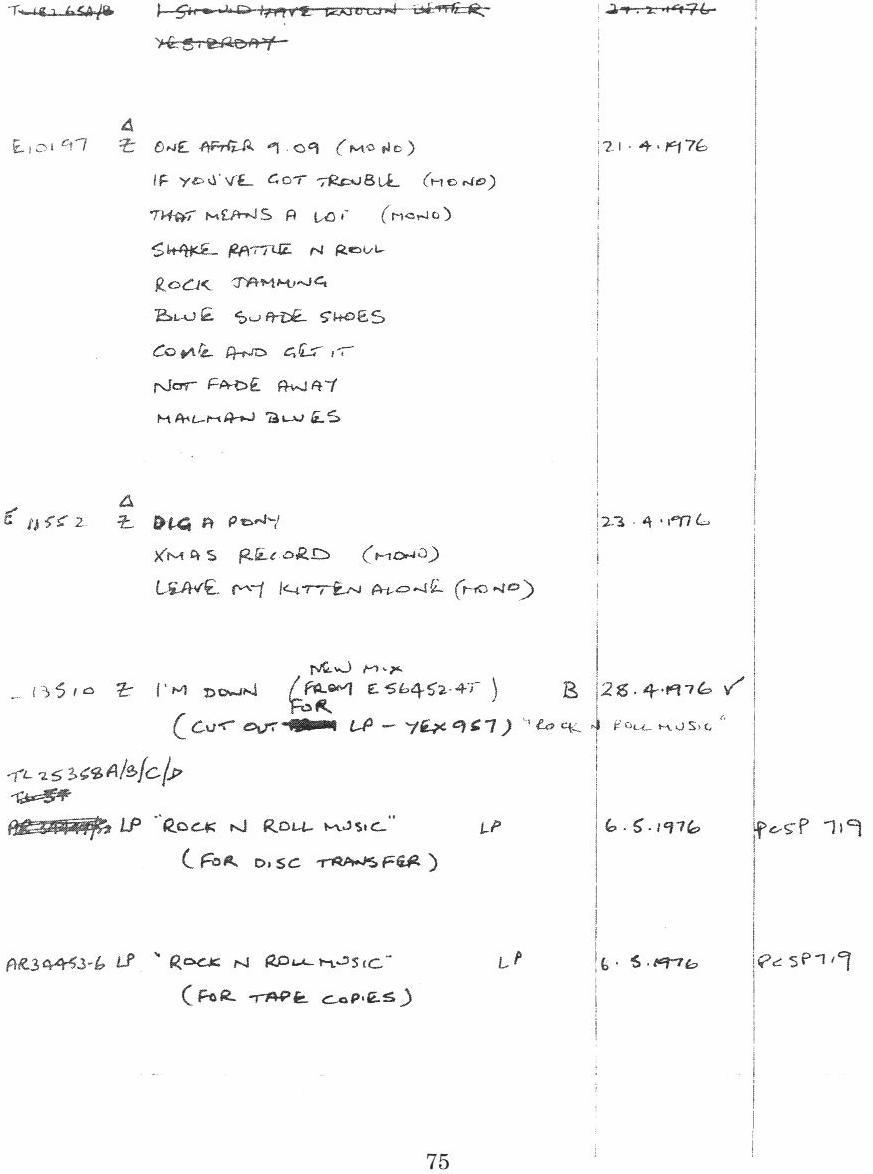 The Beatles - I'm Down 1976 mix? | Steve Hoffman Music Forums