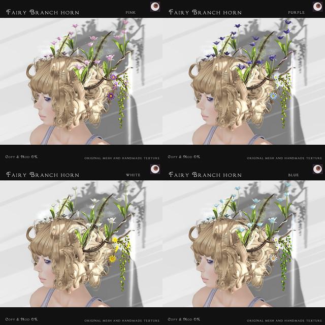 *NAMINOKE*Fairy Branch Horn- 4 color