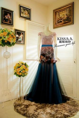 拍照婚紗和宴客禮服怎麼選?讓高雄kiss99婚紗告訴你:宴客用禮服 (13)