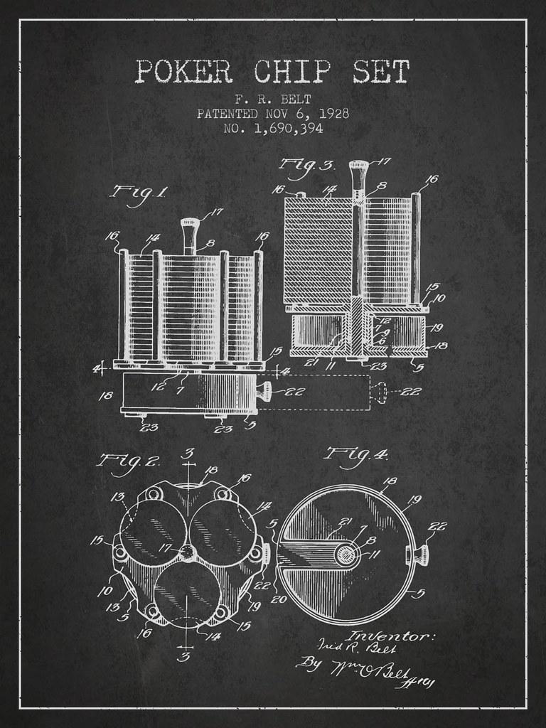 Poker Chip Set Patent from 1928 - Poker Chip Set Patent ...
