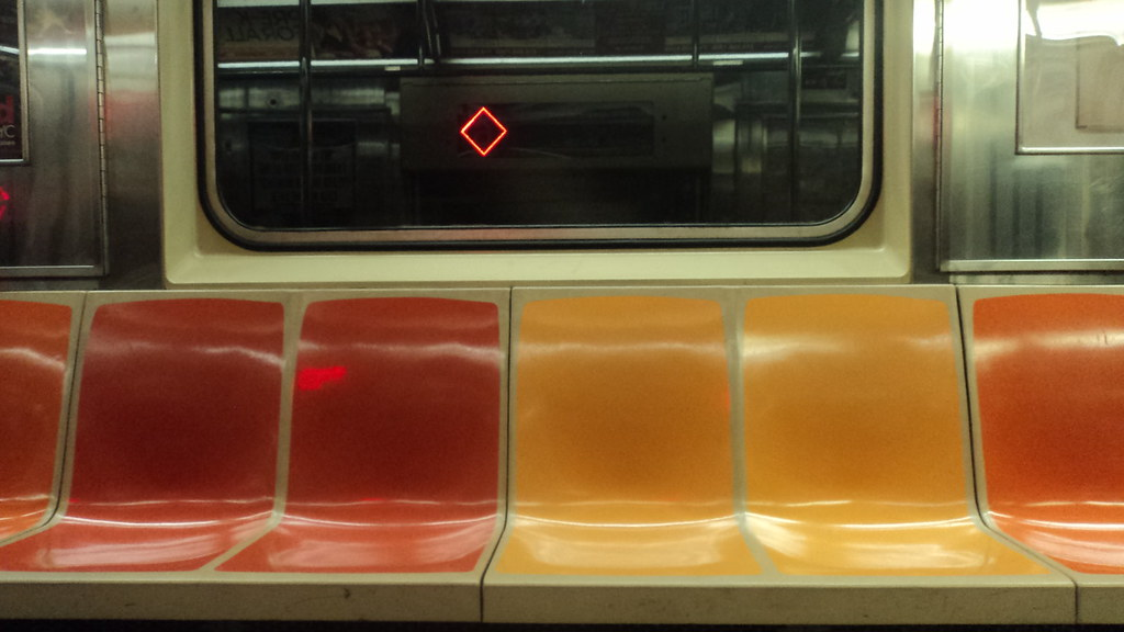 empty seats in the subway nyc one of my favorite things flickr. Black Bedroom Furniture Sets. Home Design Ideas