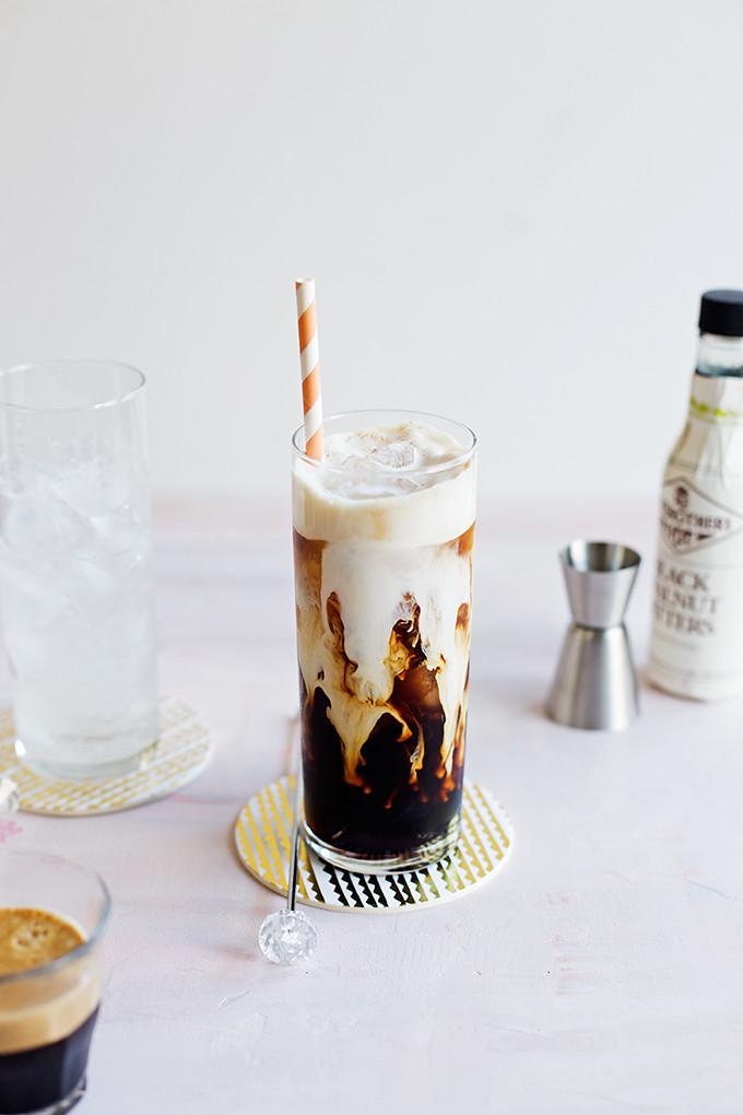 Kahlua Coffee Soda--espresso, Kahlua, and a splash of soda combine for a refreshingly fizzy, boozy, creamy cocktail.