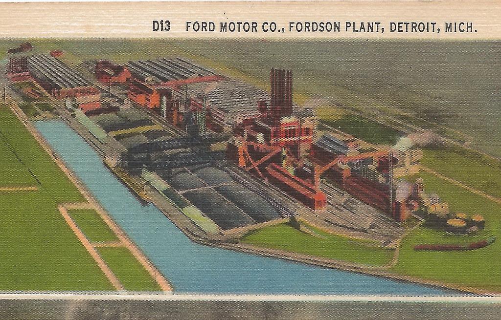 Industry Manufacturing Automotive Dearborn Detroit Mi 1920