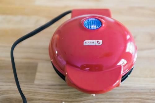 Mini waffle iron.
