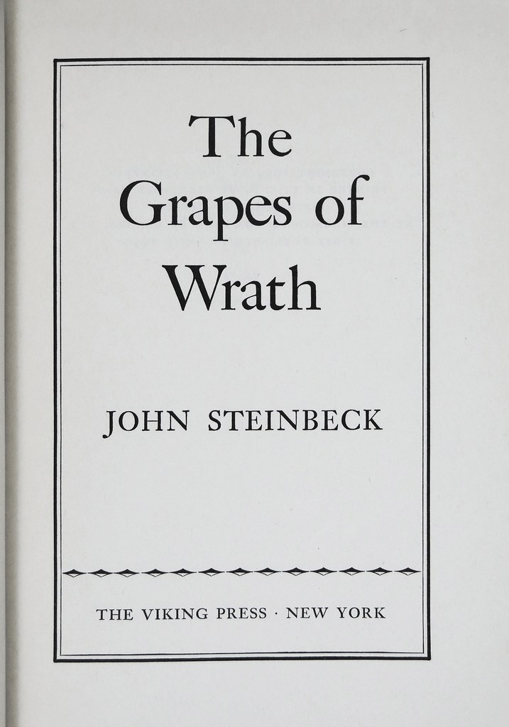 leaving the great depression in john steinbecks the grapes of wrath Agriculture and working-class political culture: a lesson from the grapes of wrath  continued throughout the great depression but the  steinbecks novel the grapes of wrath (1939) will be used as an entre´e into the world of the depression in rural america steinbecks use of character studies and dialect.