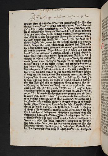 Manuscript annotation in Anonymous: Godefrey of Boloyne