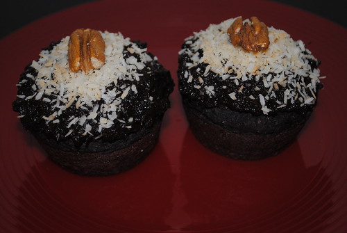 Chocolate Coconut Cupcakes with Chocolate Sweet Potato Frosting (5)