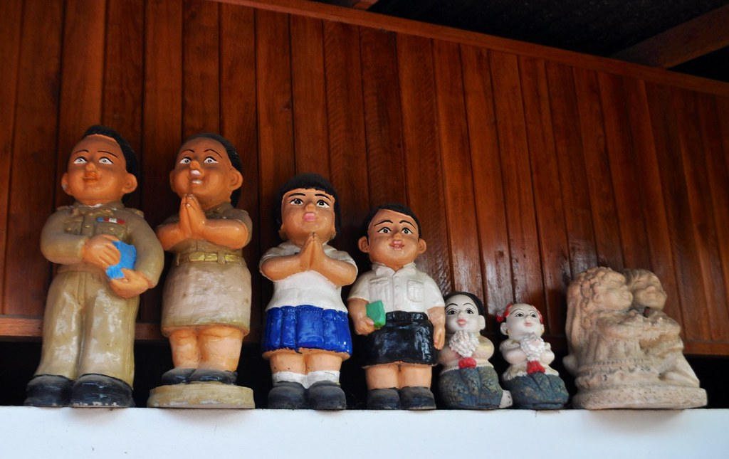 Just some of the kitsch, plastic toys I spotted in Chiang Khan, Thailand, during my visit in March 2015.