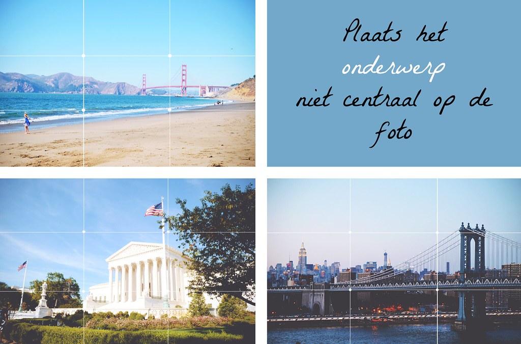 Fotografie tip: plaats het onderwerp niet centraal op de foto | via It's Travel O'Clock