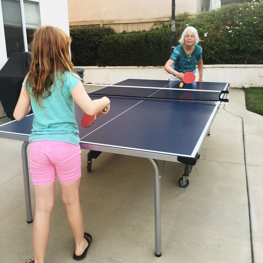 playing ping-pong