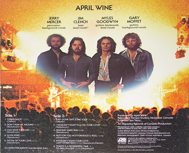 APRIL WINE STAND BACK