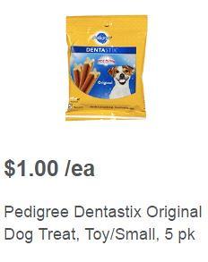 Free after coupon Dentastix at Meijer