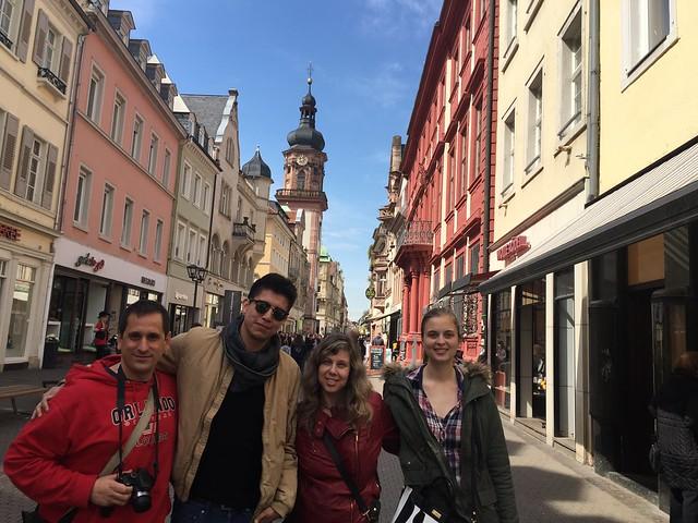 De derecha a izquierda: Chantal, Rebeca, Diego y Sele (Heidelberg)