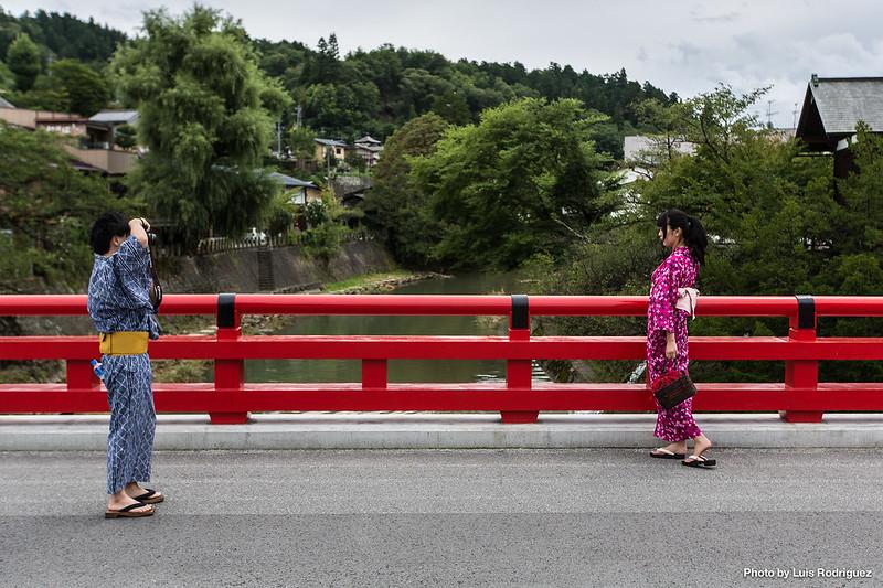 Vestidos de yukata en Takayama