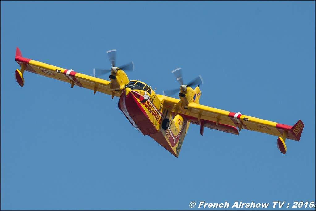 Canadair CL-415 & Firecat Tracker Sécurité civile , Meeting de l'air BA-125 Istres 2016 , Meeting Aerien 2016