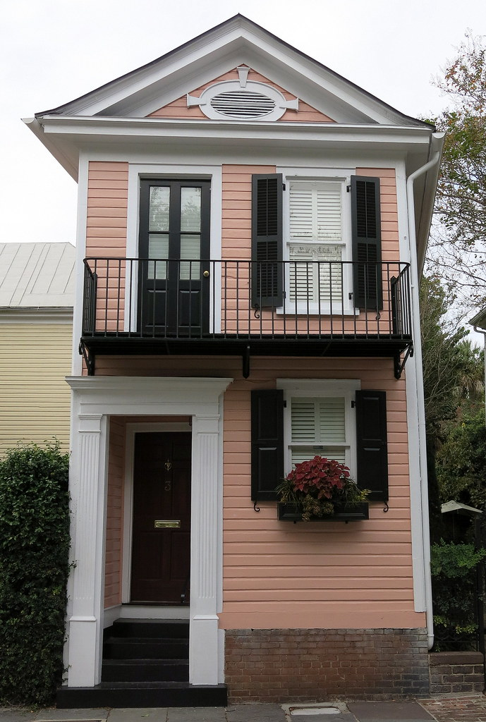 This House With Bluestone Walls Overlooks The Landscape: Narrow House With Balcony (c.1911), Lower King Street, Cha
