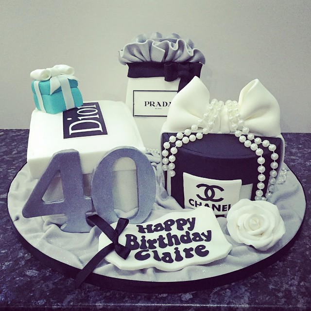 Yesterday S Fabulous 40th Birthday Cake For Claire With He