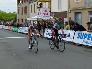 Xabier SAN SEBASTIAN LASA (Fundacion Euskadi EDP), Benoit COSNEFROY (Chambéry Cyclisme Formation)