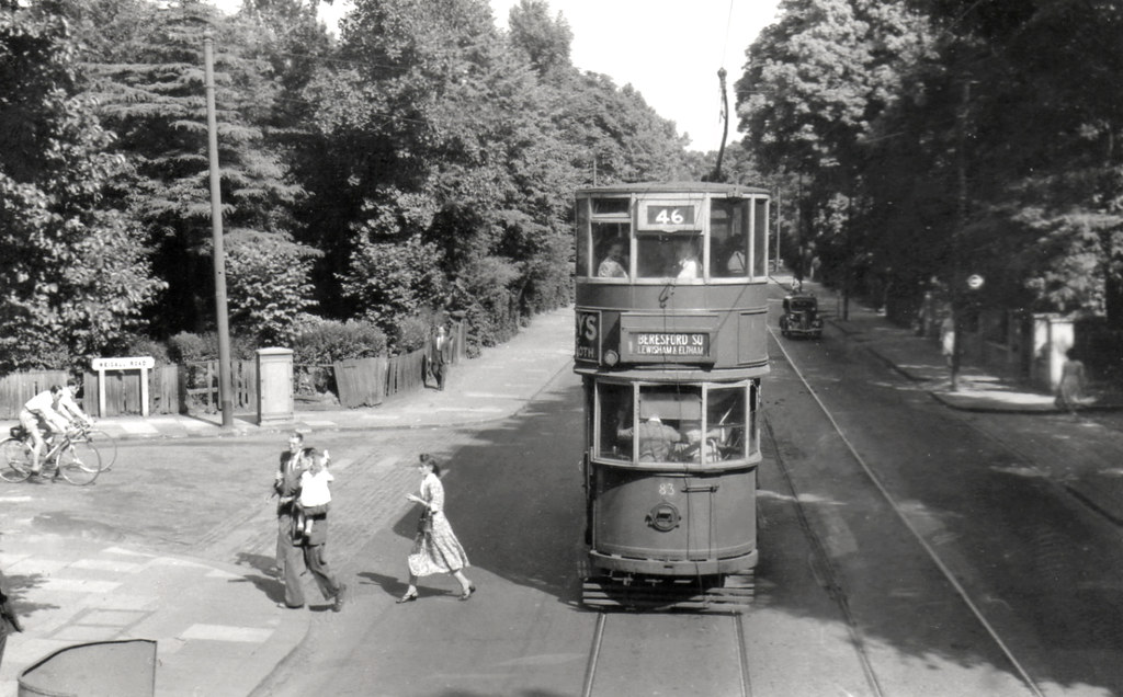 London Transport Tram Route 46 July 1952 July 5th 1952